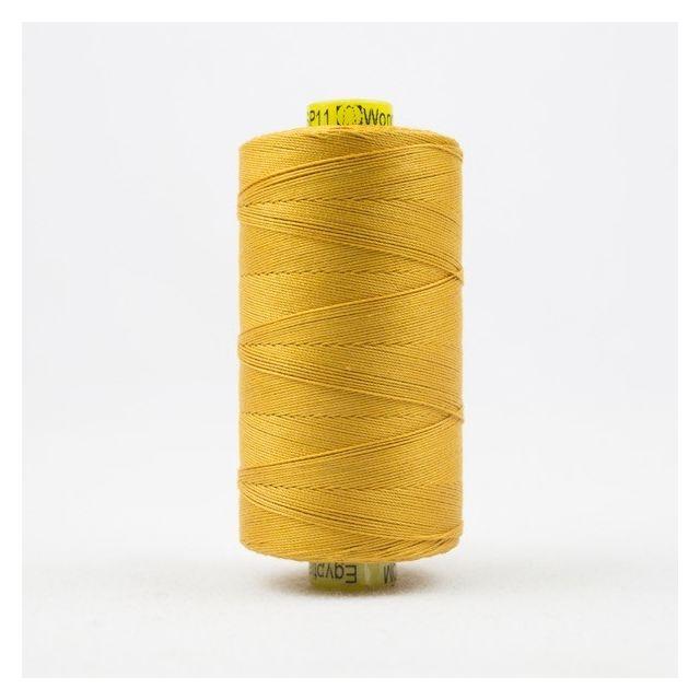 Wonderfil Spagetti 12wt cotton 400 metres, Rich Gold (SP11) Thread by Wonderfil  Spagetti 12wt Cotton Solids - OzQuilts