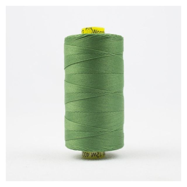 Wonderfil Spagetti 12wt cotton 400 metres, Medium Fern Green (SP12) Thread by Wonderfil  Spagetti 12wt Cotton Solids - OzQuilts