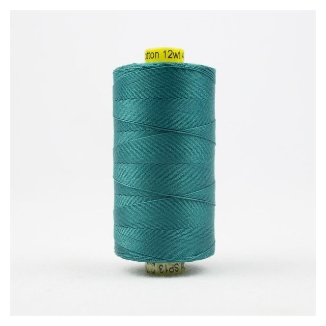Wonderfil Spagetti 12wt cotton 400 metres, Deep Ocean Green/Blue (SP13) Thread by Wonderfil  Spagetti 12wt Cotton Solids - OzQuilts