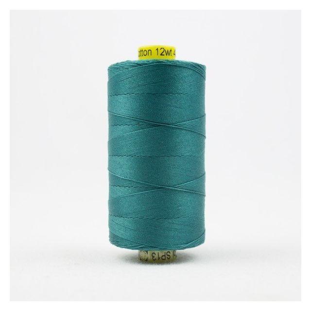Wonderfil Spagetti 12wt cotton 400 metres, Deep Ocean Green/Blue (SP13) Thread by Wonderfil  Spagetti 12wt Cotton Solids - OzQuilts