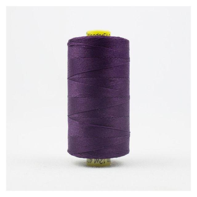 Wonderfil Spagetti 12wt cotton 400 metres, Eggplant (SP15) Thread by Wonderfil  Spagetti 12wt Cotton Solids - OzQuilts
