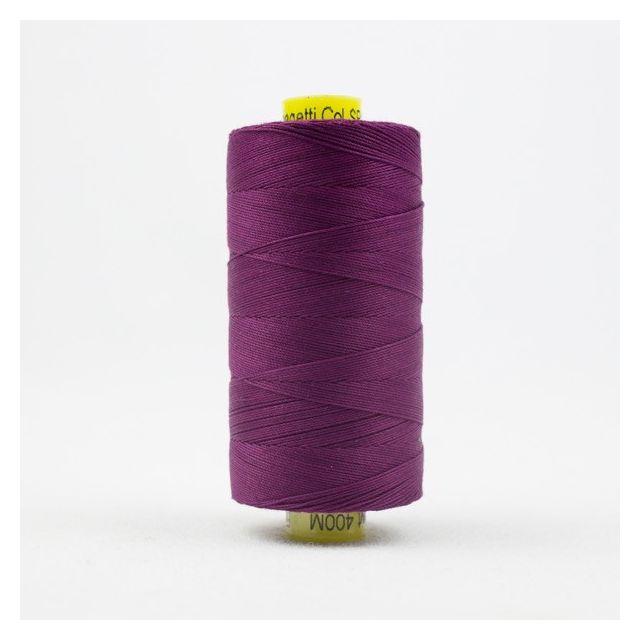 Wonderfil Spagetti 12wt cotton 400 metres, Deep Magenta (SP16) Thread by Wonderfil  Spagetti 12wt Cotton Solids - OzQuilts