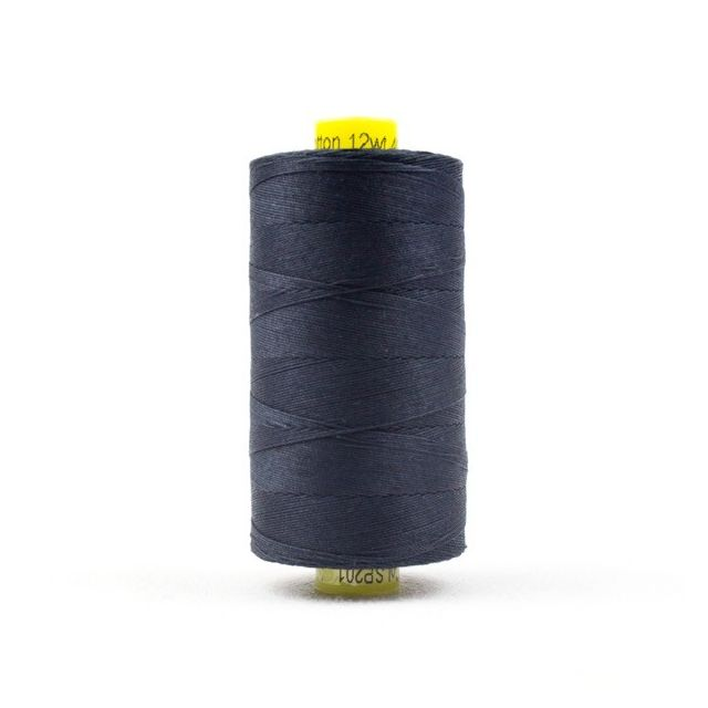 Wonderfil Spagetti 12wt cotton 400 metres, Soft Black (SP201) Thread by Wonderfil  Spagetti 12wt Cotton Solids - OzQuilts