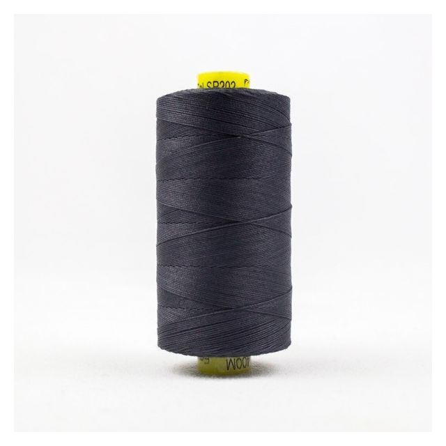 Wonderfil Spagetti 12wt cotton 400 metres, Charcoal (SP202) Thread by Wonderfil  Spagetti 12wt Cotton Solids - OzQuilts