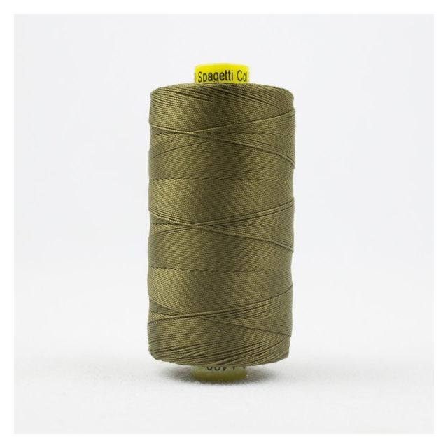 Wonderfil Spagetti 12wt cotton 400 metres, Army Green (SP22) Thread by Wonderfil  Spagetti 12wt Cotton Solids - OzQuilts