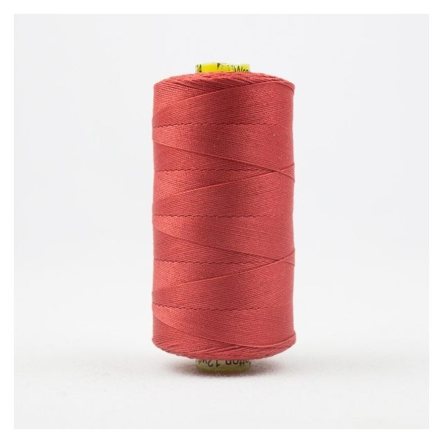 Wonderfil Spagetti 12wt cotton 400 metres, Soft Red (SP24) Thread by Wonderfil  Spagetti 12wt Cotton Solids - OzQuilts
