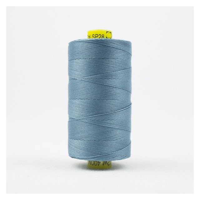 Wonderfil Spagetti 12wt cotton 400 metres, Soft Blue (SP28) Thread by Wonderfil  Spagetti 12wt Cotton Solids - OzQuilts