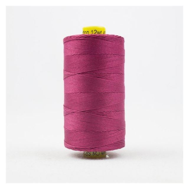 Wonderfil Spagetti 12wt cotton 400 metres, Soft Burgundy (SP31) Thread by Wonderfil  Spagetti 12wt Cotton Solids - OzQuilts