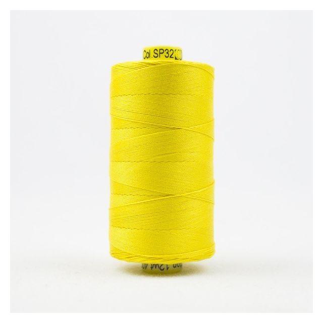 Wonderfil Spagetti 12wt cotton 400 metres, Lemon (SP32) Thread by Wonderfil  Spagetti 12wt Cotton Solids - OzQuilts