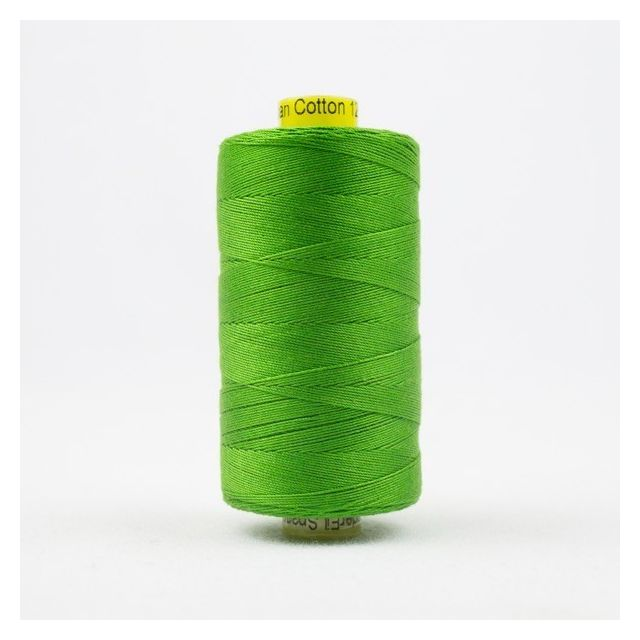 Wonderfil Spagetti 12wt cotton 400 metres, Fresh Lime (SP33) Thread by Wonderfil  Spagetti 12wt Cotton Solids - OzQuilts
