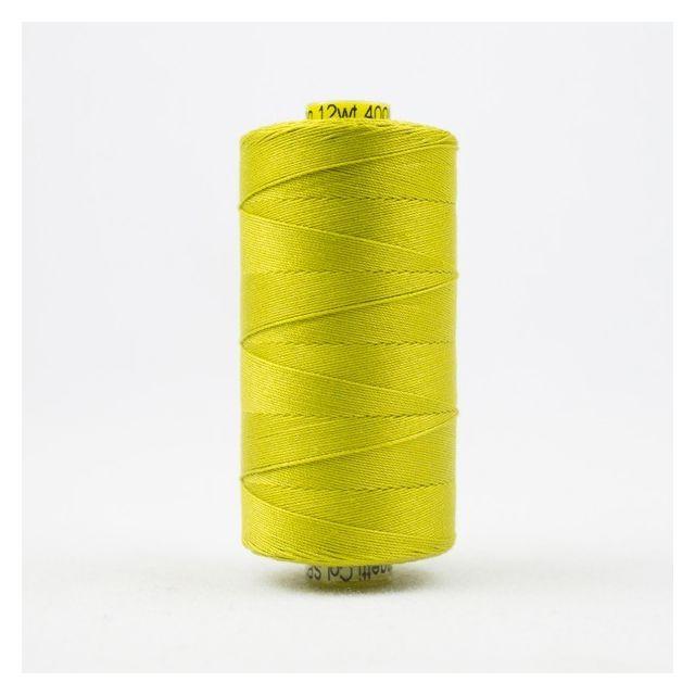 Wonderfil Spagetti 12wt cotton 400 metres, Lichen (SP36) Thread by Wonderfil  Spagetti 12wt Cotton Solids - OzQuilts