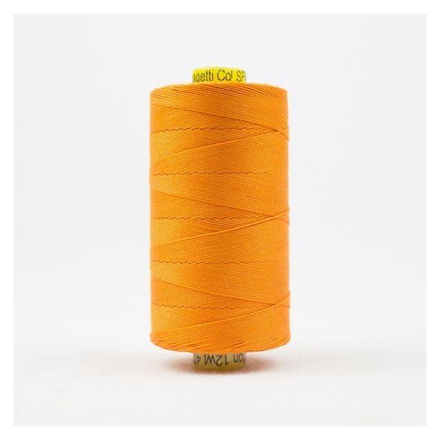 Wonderfil Spagetti 12wt cotton 400 metres, Orange (SP40) Thread by Wonderfil  Spagetti 12wt Cotton Solids - OzQuilts