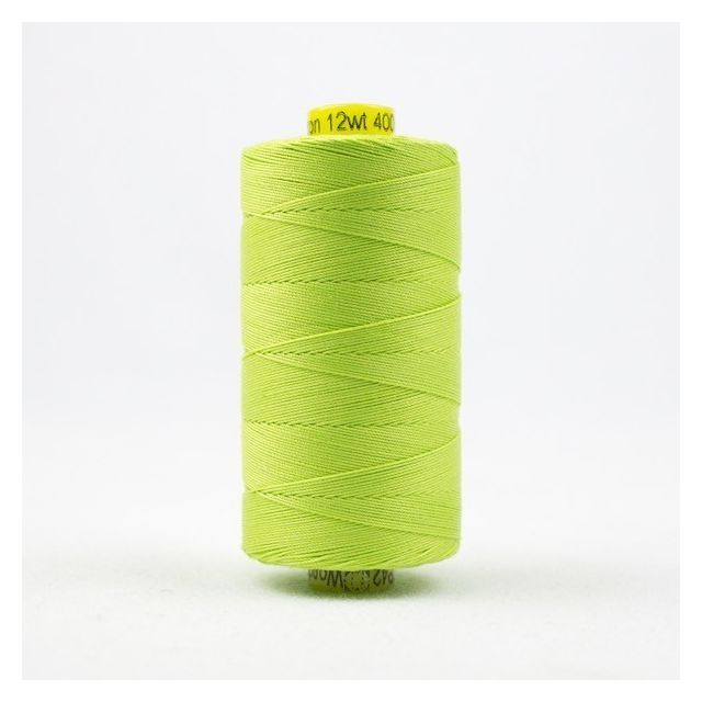 Wonderfil Spagetti 12wt cotton 400 metres, Light Spring Green (SP42) Thread by Wonderfil  Spagetti 12wt Cotton Solids - OzQuilts