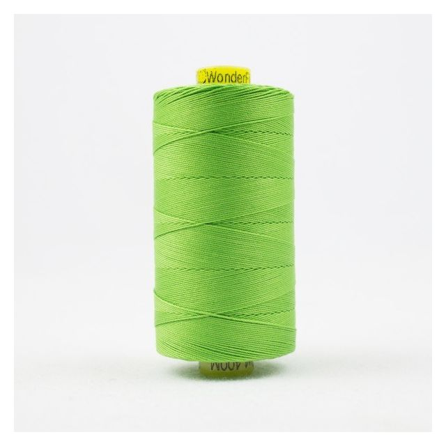Wonderfil Spagetti 12wt cotton 400 metres, New Growth (SP43) Thread by Wonderfil  Spagetti 12wt Cotton Solids - OzQuilts