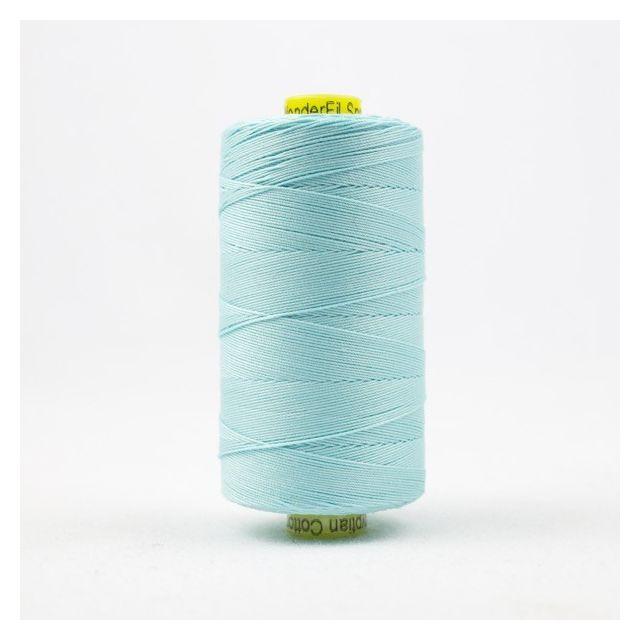 Wonderfil Spagetti 12wt cotton 400 metres, Aqua (SP44) Thread by Wonderfil  Spagetti 12wt Cotton Solids - OzQuilts