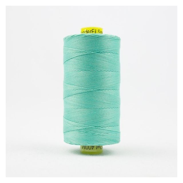 Wonderfil Spagetti 12wt cotton 400 metres, Seafoam Green (SP48) Thread by Wonderfil  Spagetti 12wt Cotton Solids - OzQuilts