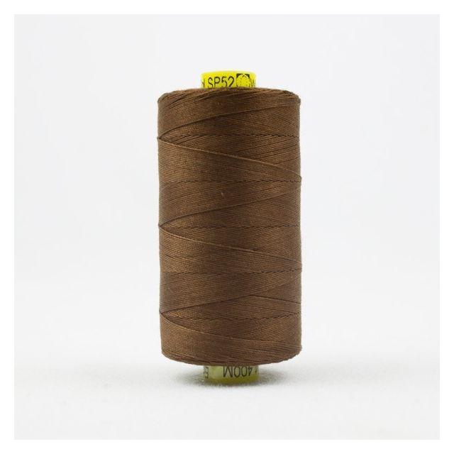 Wonderfil Spagetti 12wt cotton 400 metres, Milk Chocolate (SP52) Thread by Wonderfil  Spagetti 12wt Cotton Solids - OzQuilts