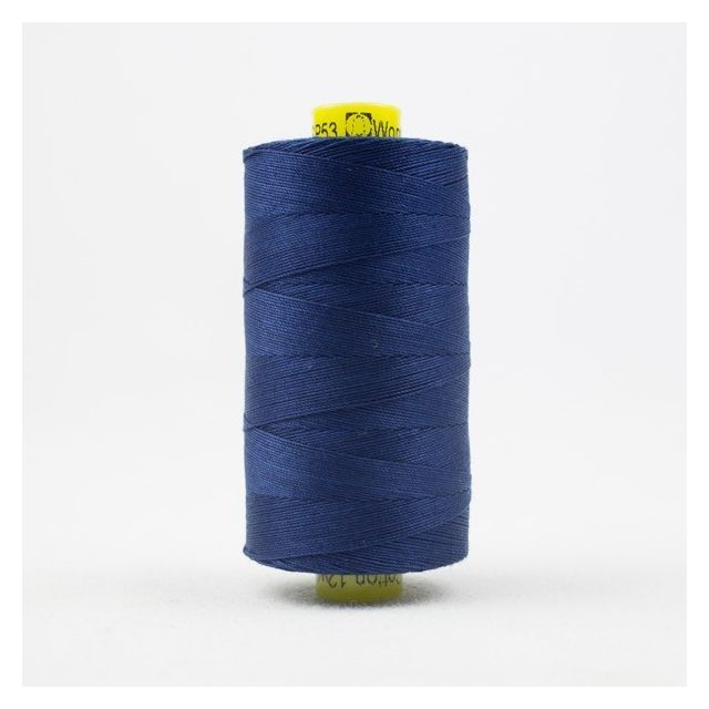 Wonderfil Spagetti 12wt cotton 400 metres, Bright Navy (SP53) Thread by Wonderfil  Spagetti 12wt Cotton Solids - OzQuilts