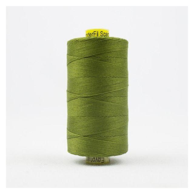 Wonderfil Spagetti 12wt cotton 400 metres, Olive (SP54) Thread by Wonderfil  Spagetti 12wt Cotton Solids - OzQuilts