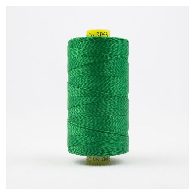 Wonderfil Spagetti 12wt cotton 400 metres, Grass Green (SP55) Thread by Wonderfil  Spagetti 12wt Cotton Solids - OzQuilts