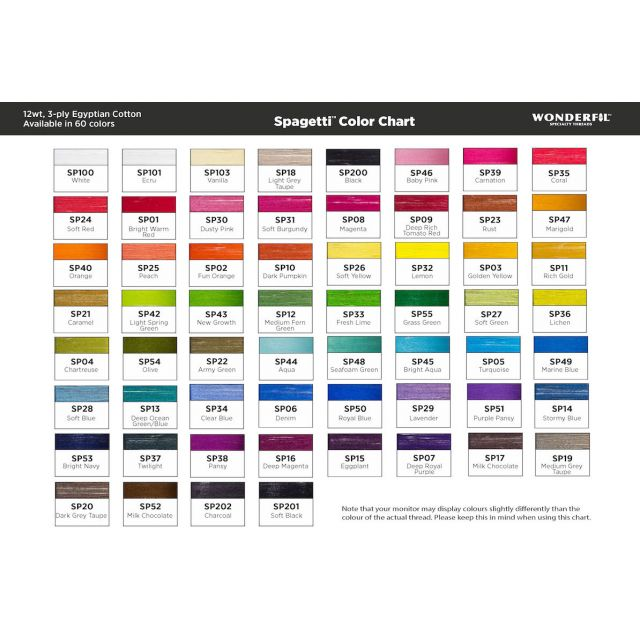Wonderfil Spagetti 12wt cotton 400 metres, Marigold (SP47) Thread by Wonderfil  Spagetti 12wt Cotton Solids - OzQuilts
