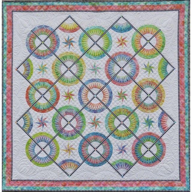 La Vie Est Belle Pattern & Foundation Papers by Jacqueline de Jongue by BeColourful Quilts by Jacqueline de Jongue Patterns & Foundation Papers - OzQuilts