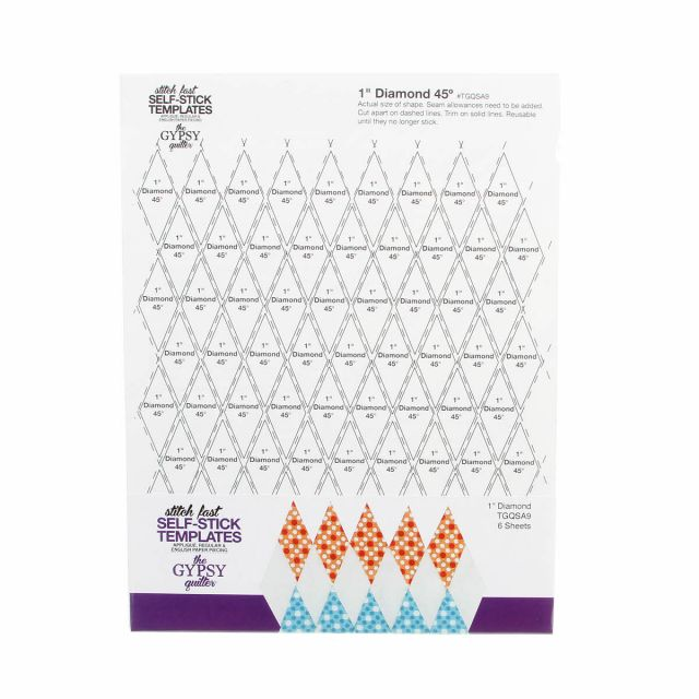 Stitch Fast Self-Stick Template 1 in Diamond by The Gypsy Quilter Clearance - OzQuilts
