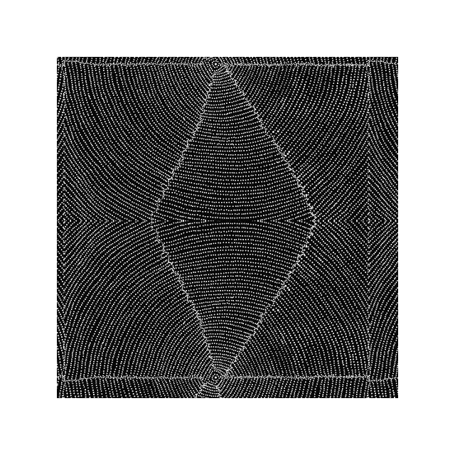 Plum Seeds Black Australian Aboriginal Art Fabric by Kathleen Pitjara by M & S Textiles Cut from the Bolt - OzQuilts