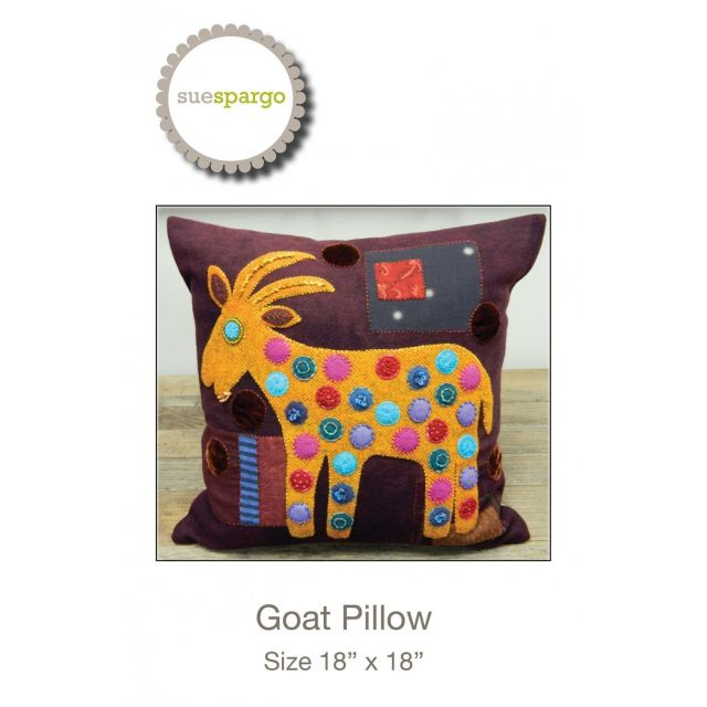 Goat Pillow Pattern by Sue Spargo by Sue Spargo Sue Spargo - OzQuilts