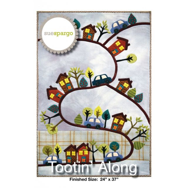 Tootin Along Pattern by Sue Spargo by Sue Spargo - Applique
