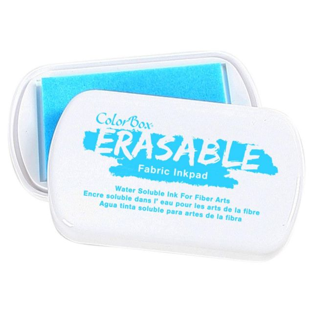 Erasable Fabric Ink Pad - Blue by Colorbox - Marking Tools