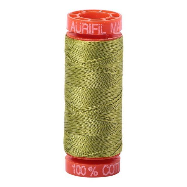 Aurifil Mako Cotton Thread 50wt 220yds 1147 Light Leaf Green by Aurifil Cotton Thread 50wt 200 Metres - OzQuilts