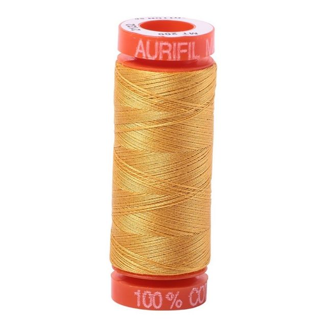 Aurifil Mako Cotton Thread 50wt 220yds 2132 Tarnished Gold by Aurifil Cotton Thread 50wt 200 Metres - OzQuilts