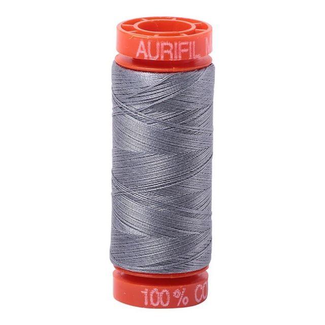 Aurifil Mako Cotton Thread 50wt 220yds 2605 Grey by Aurifil Cotton Thread 50wt 200 Metres - OzQuilts
