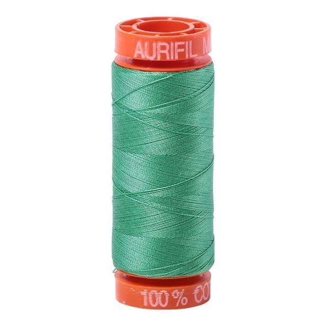 Aurifil Mako Cotton Thread 50wt 220yds 2860 Light Emerald by Aurifil Cotton Thread 50wt 200 Metres - OzQuilts