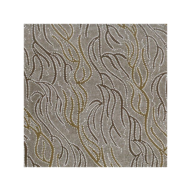 Underground Water Olive by Janet Nakamarra Long by M & S Textiles Cut from the Bolt - OzQuilts