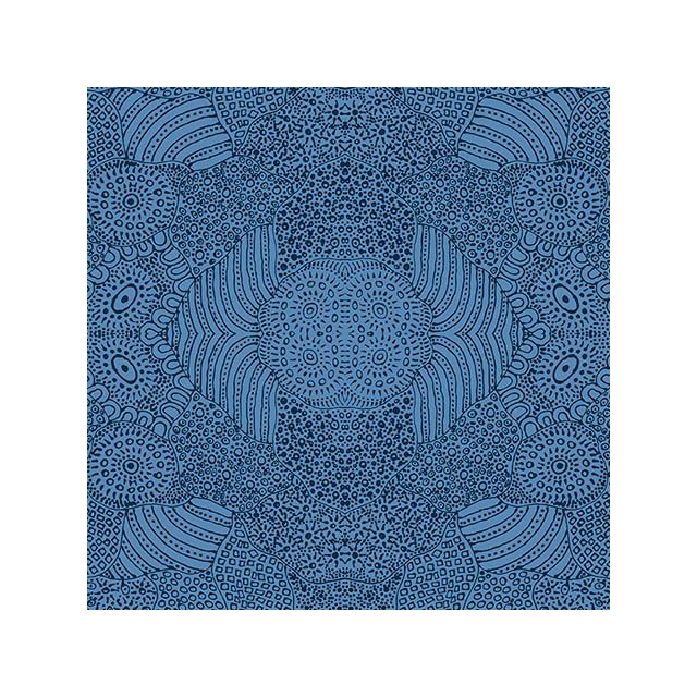 Waterhole in Blue by Anna Pitjara by M & S Textiles Cut from the Bolt - OzQuilts