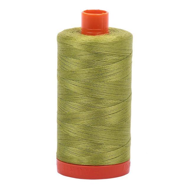 Aurifil Mako Cotton Thread 50wt 1422yds Light Leaf Green 1147 by Aurifil Cotton Thread 50wt 1300 Metres - OzQuilts