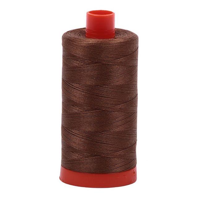 Aurifil Mako Cotton Thread 50wt 1422yds  Dark Antique Gold 2372 by Aurifil Cotton Thread 50wt 1300 Metres - OzQuilts
