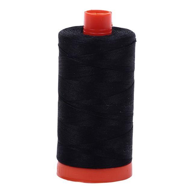 Aurifil Mako Cotton Thread 50wt 1422yds Black 2692 by Aurifil Cotton Thread 50wt 1300 Metres - OzQuilts