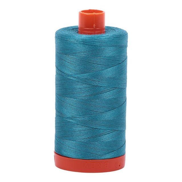 Aurifil Mako Cotton Thread 50wt 1422yds Dark Turquoise 4182 by Aurifil Cotton Thread 50wt 1300 Metres - OzQuilts