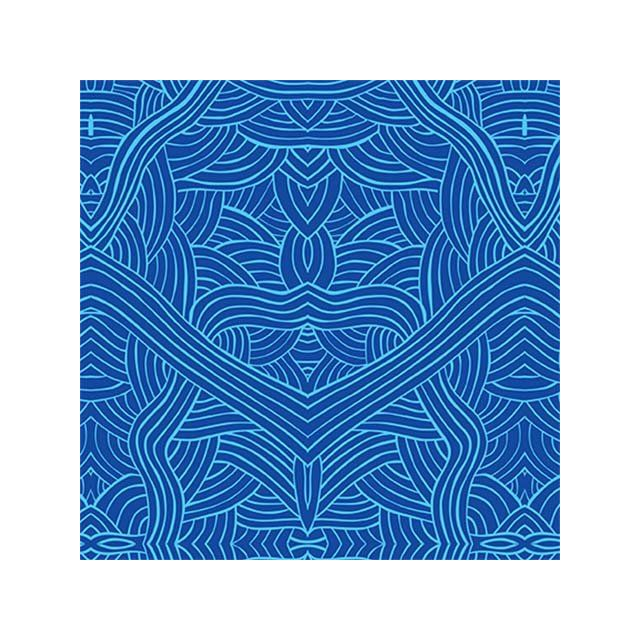 Untitled Blue Australian Aboriginal Art Fabric by Nambooka by M & S Textiles - Cut from the Bolt