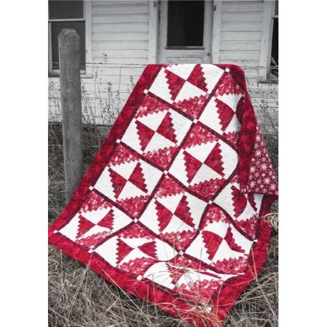 Candy Cane Cabin Cut Loose Press Pattern by Quiltworx Cut Loose Press Patterns - OzQuilts