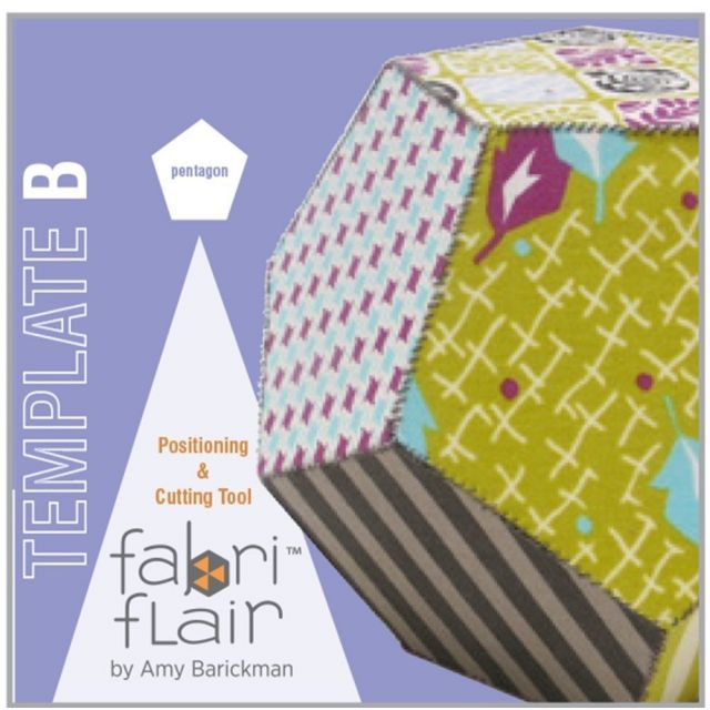 Fabriflair Template B - Pentagon by Indygo Junction Christmas - OzQuilts