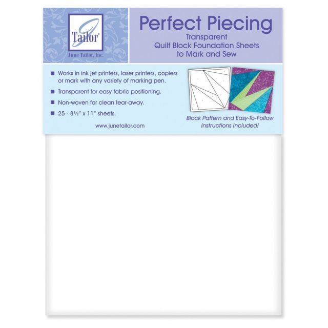 Transparent Foundation Piecing Paper (25 Sheets) by June Tailor Foundation Papers - OzQuilts