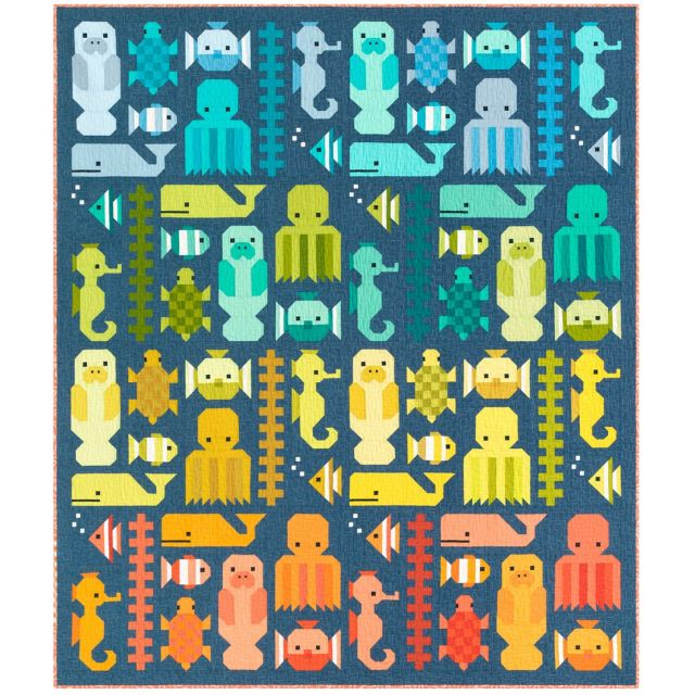 Awesome Ocean Quilt Kit by Elizabeth Hartman - Quilt Kits