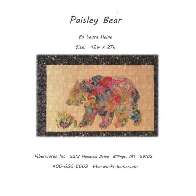 Paisey Bear Collage Pattern by Fibreworks Inc Collage  - OzQuilts
