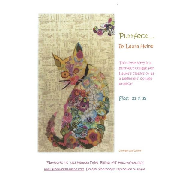 Purrfect Cat Collage Pattern by Fibreworks Inc Collage  - OzQuilts