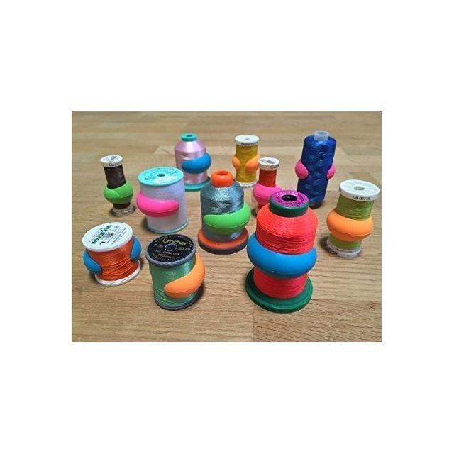 Bobbin & Spool Huggers 12 in a Jar by OzQuilts Thread Accessories