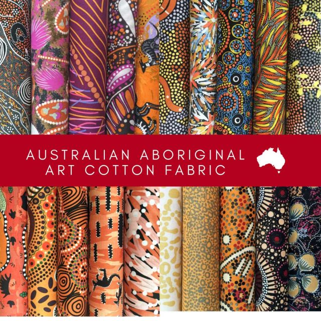 Aboriginal Art Fabric 20 Fat Quarter Bundle E